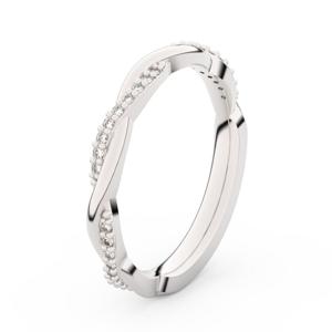 Zlatý dámský prsten DF 3951 z bílého zlata, s briliantem 63