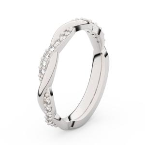 Zlatý dámský prsten DF 3952 z bílého zlata, s briliantem 62