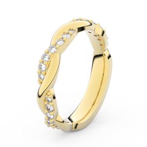 Zlatý dámský prsten DF 3953 ze žlutého zlata, s briliantem 58