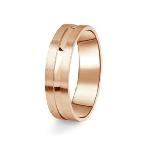 Zlatý pánský prsten DF 08/P z růžového zlata, s briliantem 57
