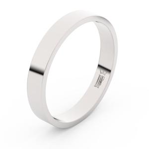 Zlatý snubní prsten FMR 1G35 z bílého zlata, bez kamene 54