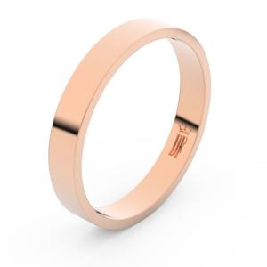 Zlatý snubní prsten FMR 1G35 z růžového zlata, bez kamene 61