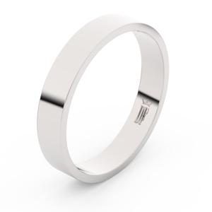 Zlatý snubní prsten FMR 1G40 z bílého zlata, bez kamene 57