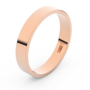 Zlatý snubní prsten FMR 1G40 z růžového zlata, bez kamene 64