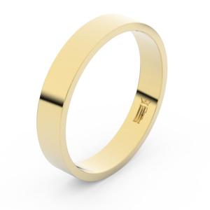 Zlatý snubní prsten FMR 1G40 ze žlutého zlata, bez kamene 64