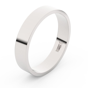 Zlatý snubní prsten FMR 1G45 z bílého zlata, bez kamene 49