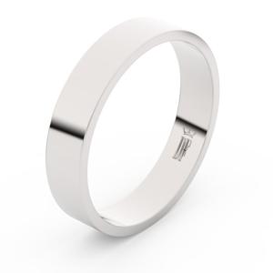 Zlatý snubní prsten FMR 1G45 z bílého zlata, bez kamene 70