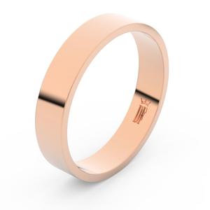 Zlatý snubní prsten FMR 1G45 z růžového zlata, bez kamene 47