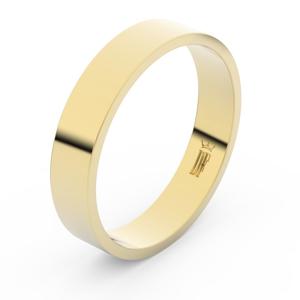 Zlatý snubní prsten FMR 1G45 ze žlutého zlata, bez kamene 59