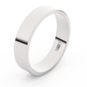 Zlatý snubní prsten FMR 1G50 z bílého zlata, bez kamene 55