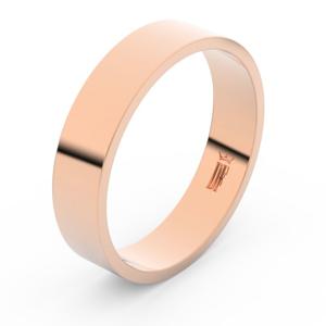 Zlatý snubní prsten FMR 1G50 z růžového zlata, bez kamene 55