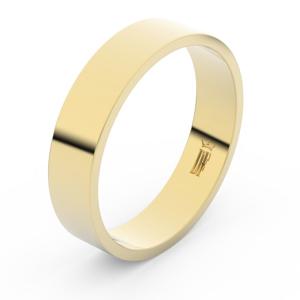 Zlatý snubní prsten FMR 1G50 ze žlutého zlata, bez kamene 69