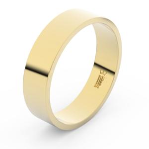 Zlatý snubní prsten FMR 1G55 ze žlutého zlata, bez kamene 59