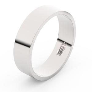 Zlatý snubní prsten FMR 1G60 z bílého zlata, bez kamene 52