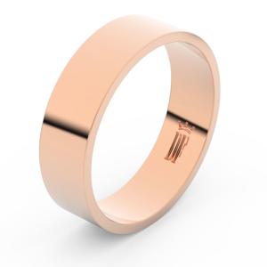 Zlatý snubní prsten FMR 1G60 z růžového zlata, bez kamene 64