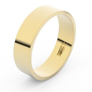 Zlatý snubní prsten FMR 1G60 ze žlutého zlata, bez kamene 55