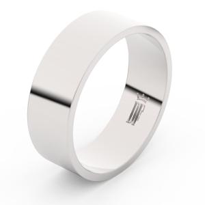 Zlatý snubní prsten FMR 1G70 z bílého zlata, bez kamene 54