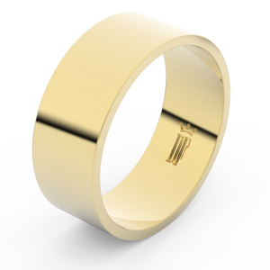 Zlatý snubní prsten FMR 1G80 ze žlutého zlata, bez kamene 54
