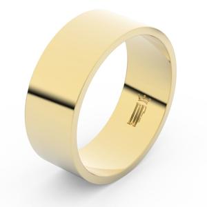 Zlatý snubní prsten FMR 1G80 ze žlutého zlata, bez kamene 60