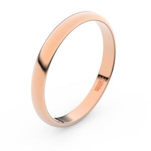 Zlatý snubní prsten FMR 2A30 z růžového zlata, bez kamene 65