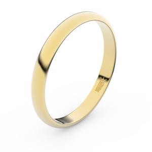 Zlatý snubní prsten FMR 2A30 ze žlutého zlata, bez kamene 58