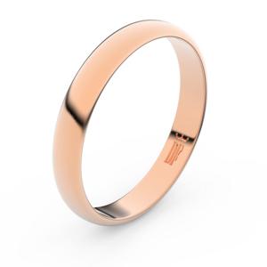 Zlatý snubní prsten FMR 2B35 z růžového zlata, bez kamene 49