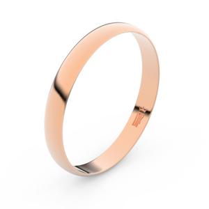 Zlatý snubní prsten FMR 2B35 z růžového zlata, bez kamene 71