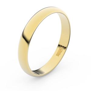 Zlatý snubní prsten FMR 2B35 ze žlutého zlata, bez kamene 58