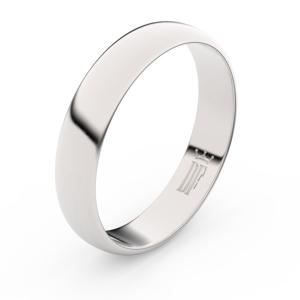 Zlatý snubní prsten FMR 2D45 z bílého zlata, bez kamene 62