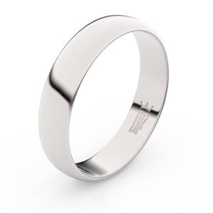 Zlatý snubní prsten FMR 2E50 z bílého zlata, bez kamene 61