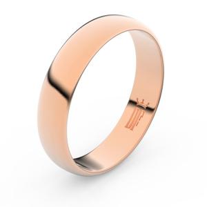 Zlatý snubní prsten FMR 2E50 z růžového zlata, bez kamene 66