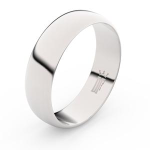 Zlatý snubní prsten FMR 3A60 z bílého zlata, bez kamene 59