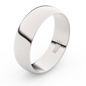 Zlatý snubní prsten FMR 3B65 z bílého zlata, bez kamene 71