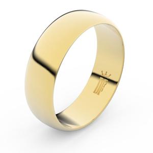 Zlatý snubní prsten FMR 3B65 ze žlutého zlata, bez kamene 71