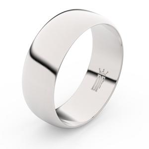 Zlatý snubní prsten FMR 3C75 z bílého zlata, bez kamene 65