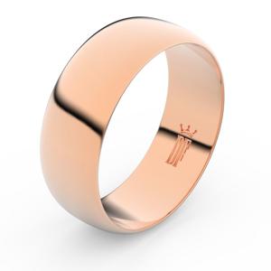 Zlatý snubní prsten FMR 3C75 z růžového zlata, bez kamene 47