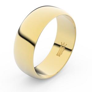 Zlatý snubní prsten FMR 3C75 ze žlutého zlata, bez kamene 50