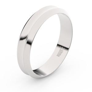 Zlatý snubní prsten FMR 4B45 z bílého zlata, bez kamene 54