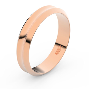 Zlatý snubní prsten FMR 4B45 z růžového zlata, bez kamene 71