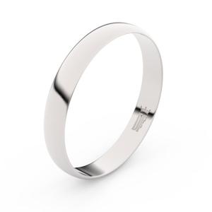 Zlatý snubní prsten FMR 4C35 z bílého zlata, bez kamene 50