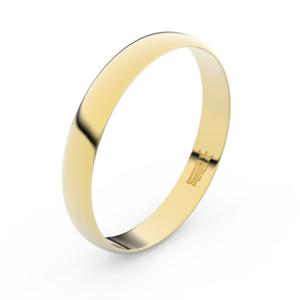 Zlatý snubní prsten FMR 4C35 ze žlutého zlata, bez kamene 55
