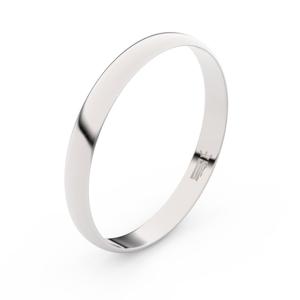 Zlatý snubní prsten FMR 4D30 z bílého zlata, bez kamene 53