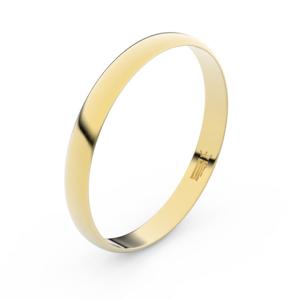 Zlatý snubní prsten FMR 4D30 ze žlutého zlata, bez kamene 48