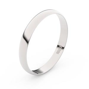 Zlatý snubní prsten FMR 4E30 z bílého zlata, bez kamene 48