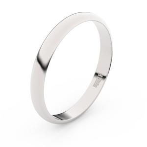 Zlatý snubní prsten FMR 4F30 z bílého zlata, bez kamene 55