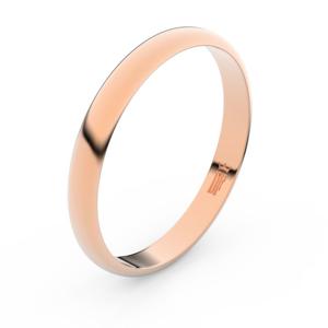 Zlatý snubní prsten FMR 4F30 z růžového zlata, bez kamene 65