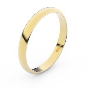 Zlatý snubní prsten FMR 4F30 ze žlutého zlata, bez kamene 53