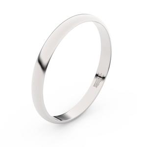 Zlatý snubní prsten FMR 4G25 z bílého zlata, bez kamene 56