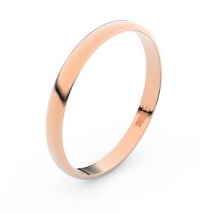 Zlatý snubní prsten FMR 4G25 z růžového zlata, bez kamene 70