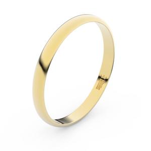 Zlatý snubní prsten FMR 4G25 ze žlutého zlata, bez kamene 60